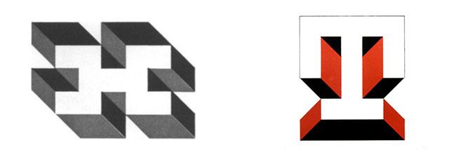 Diferentes diseños de símbolos diseñados por Norman Ives
