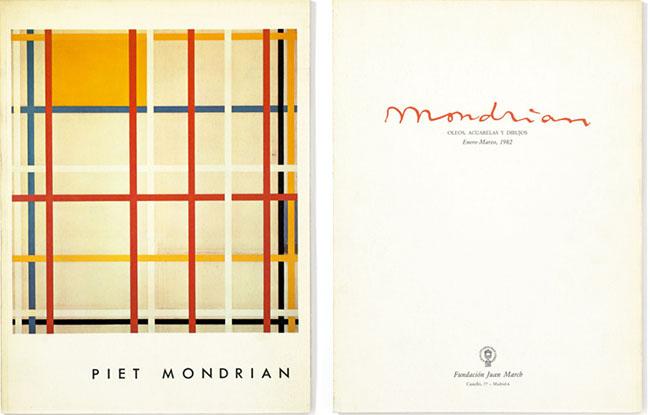 Catálogo de la exposición de Piet Mondrian. Fundación Juan March, 1982